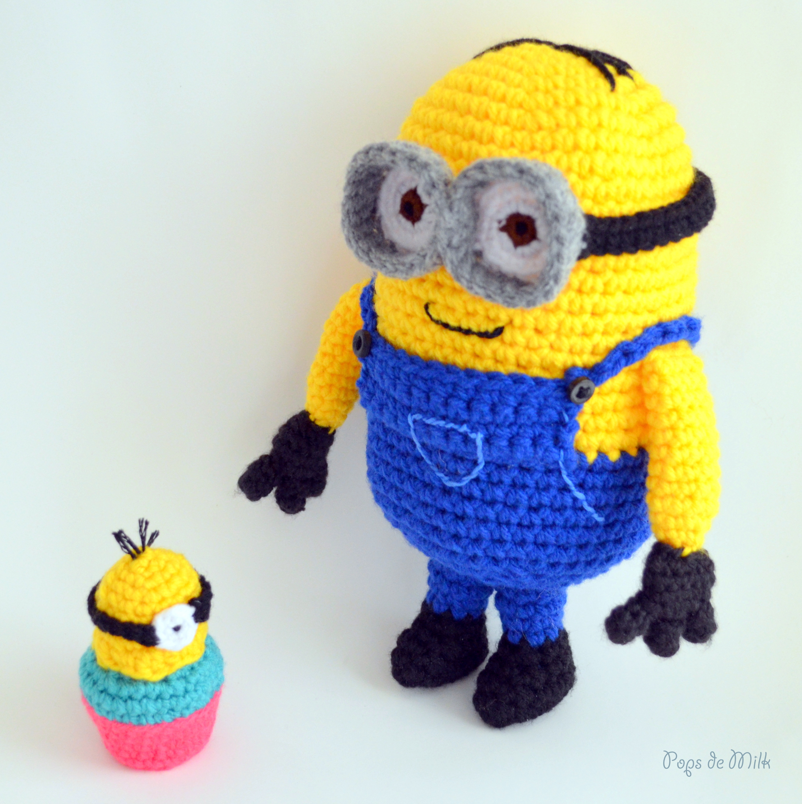 Dave the minion crochet pattern pops de milk dave the minion and cupcake pops de milk dt1010fo