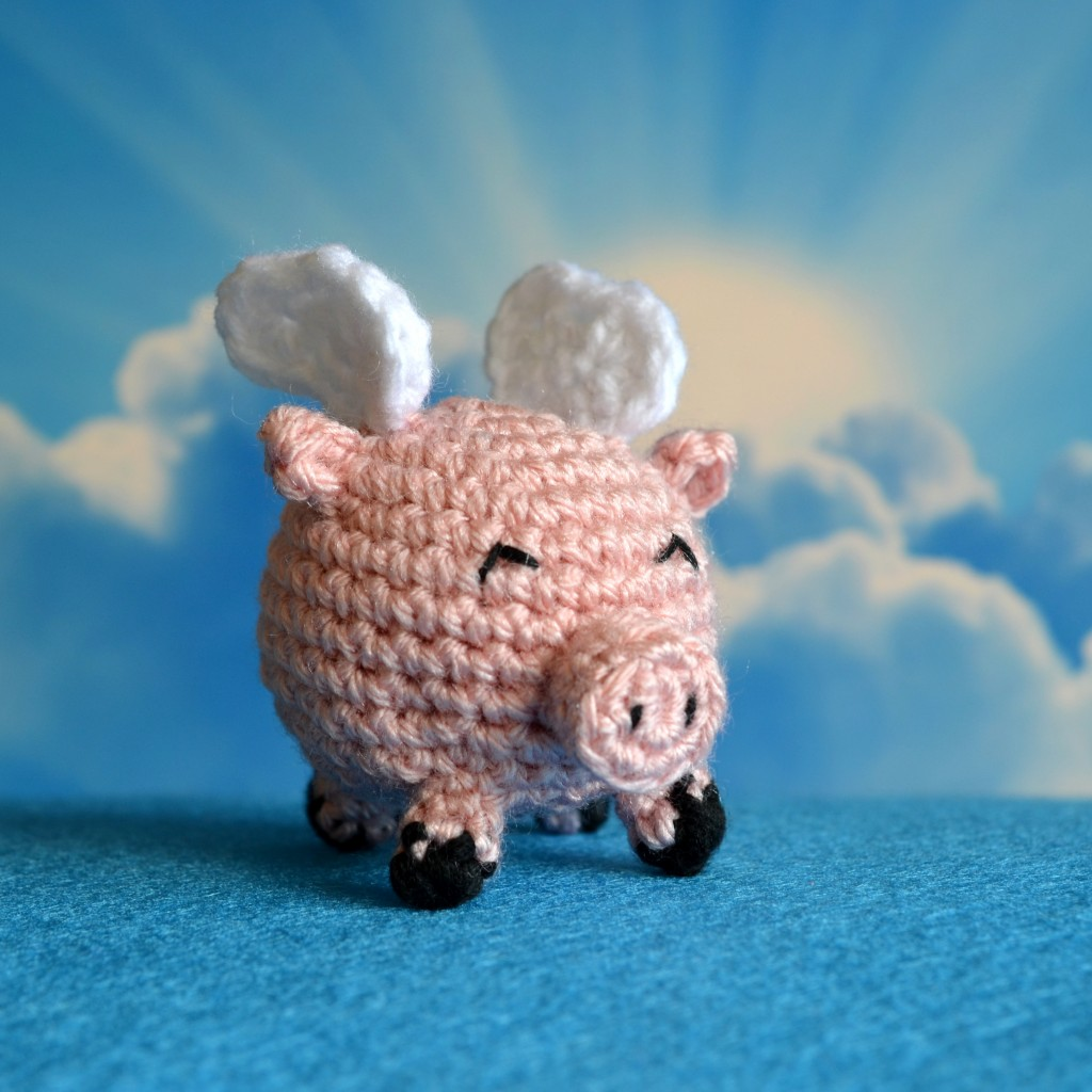 Flying Pig Crochet Pattern - Pops de Milk