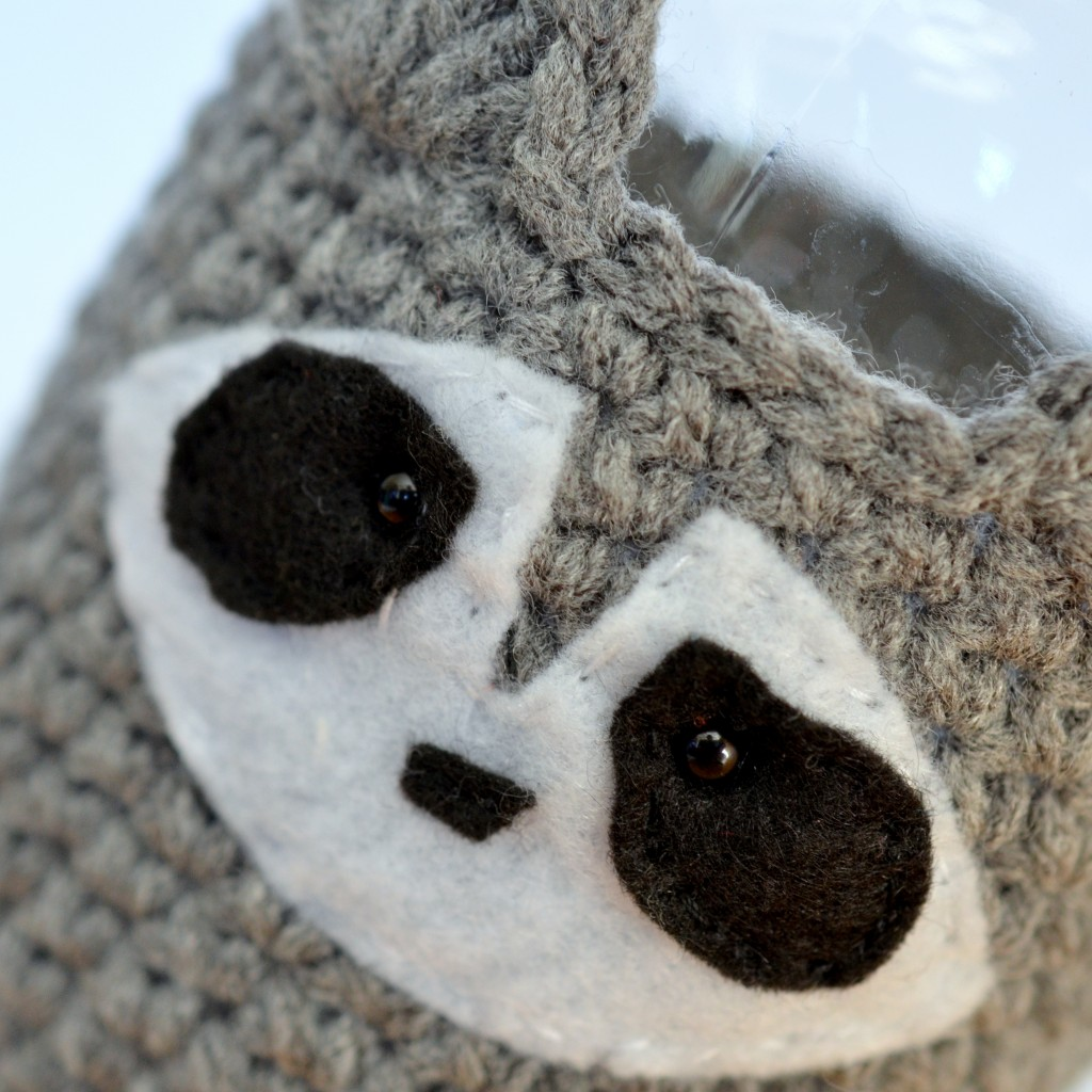 Raccoon Mason Jar Cosy - Pops de Milk
