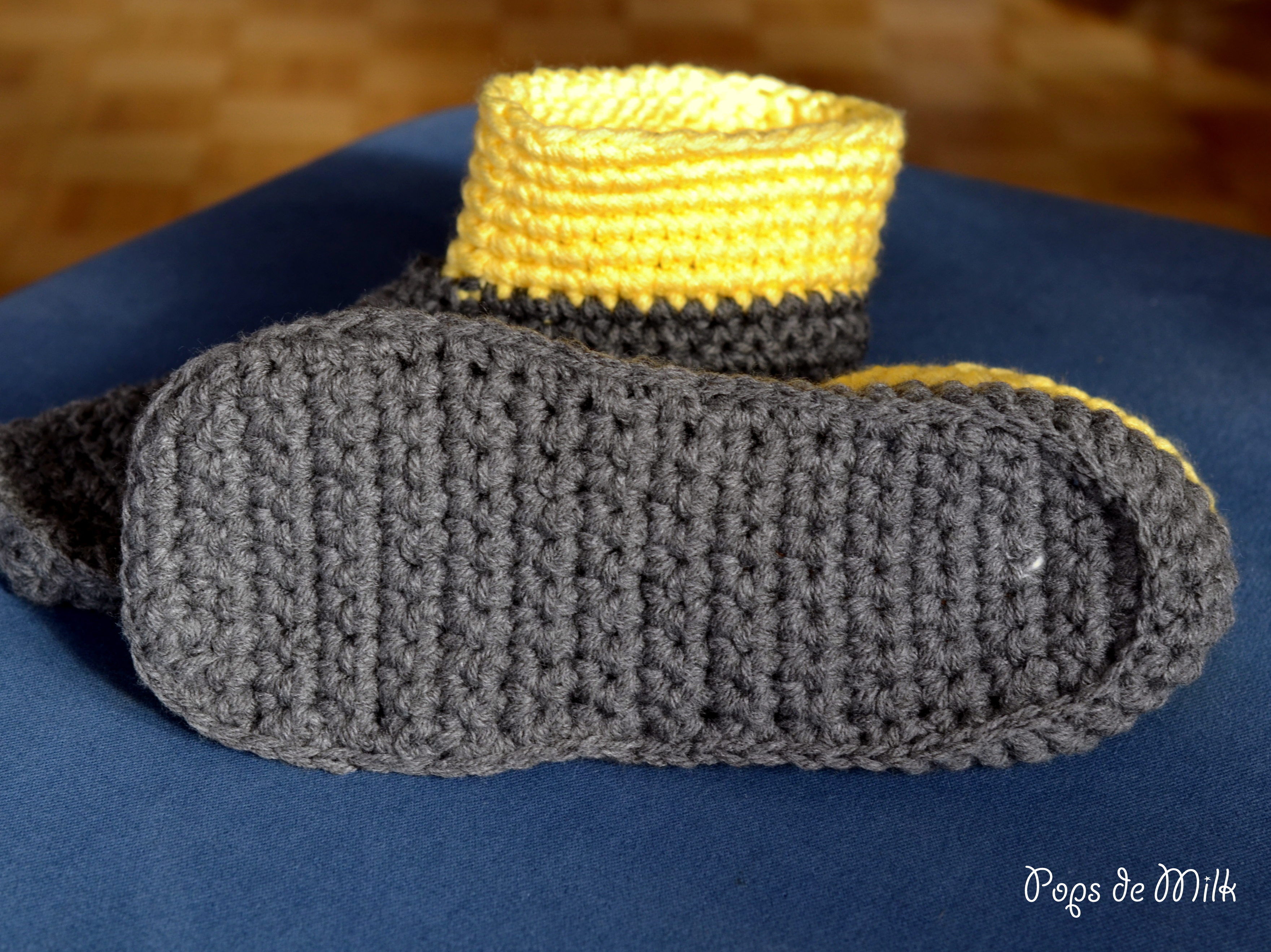 Crochet Boot Slippers I Added The Felt Soles I Made Last Week So They Are  Wonderfully Cushioned And So Very Warm