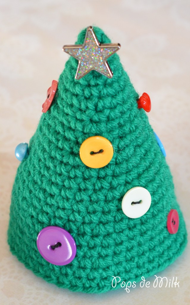 Crochet Christmas Treet With Buttons - Pops de Milk