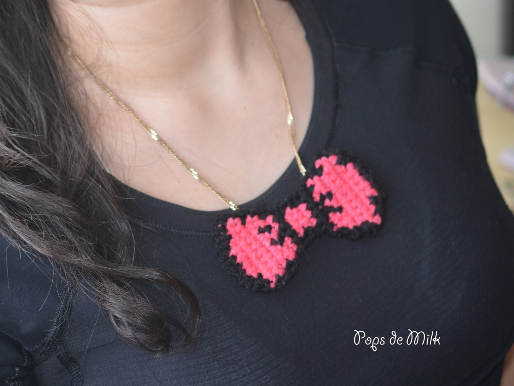 Crochet Bow Necklace - Pops de Milk