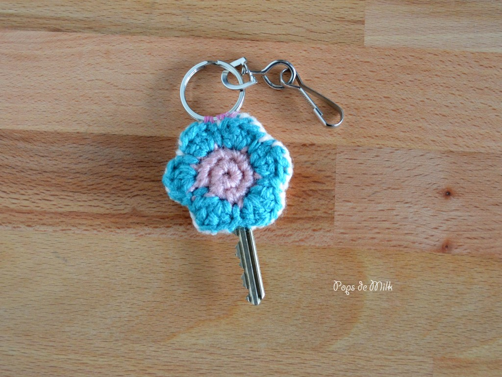 Crochet Flower Key Cosy - Pops de Milk