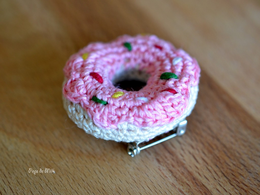 Crochet Donut Pin - Pops de Milk