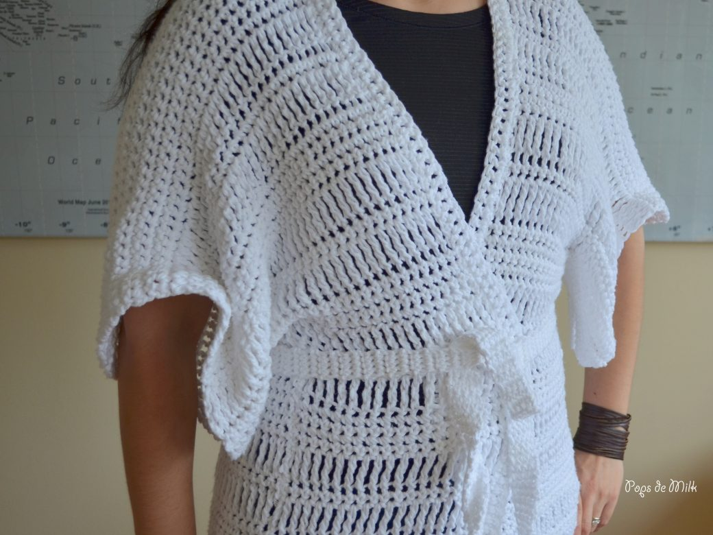 Comfy Crochet House Coat - Pops de Milk